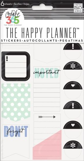Gifts for busy moms. Don't Forget planner stickers.