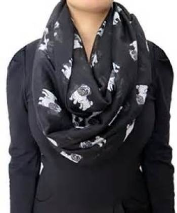 Gifts for pug lovers. Pug Dog Infinity Scarf