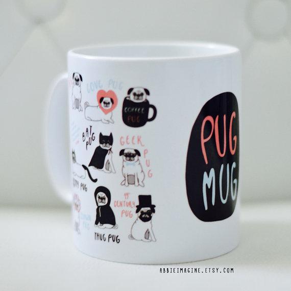 Pug mug. Best gifts for pug lovers