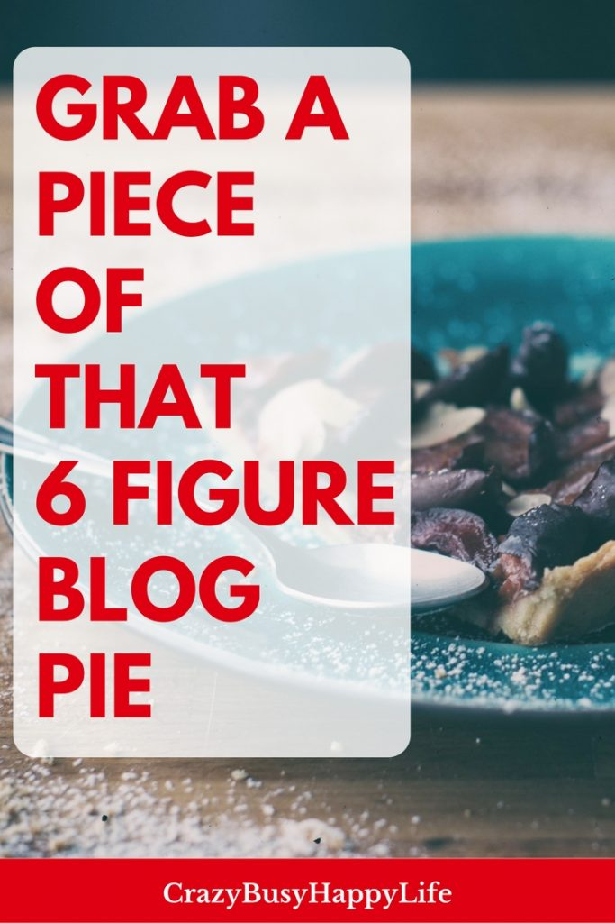 Grab a piece of that six figure blog pie! Learn how to use affiliate marketing and affiliate links to increase money you earn from blogging. monetization, blog income, side hustle, wahm, work at home