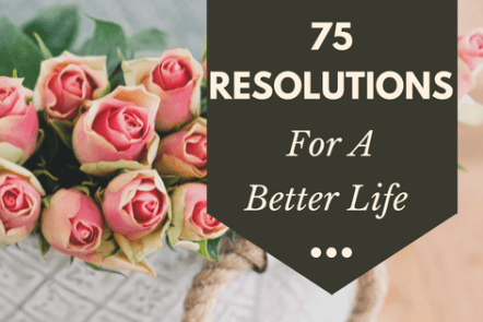 75 resolutions for a better life
