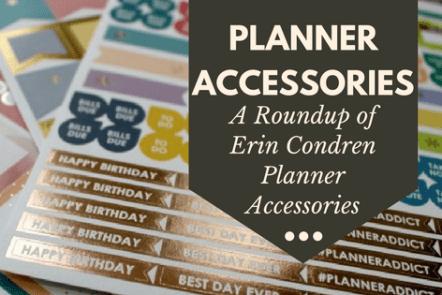 Erin Condren Life Planner Accessories
