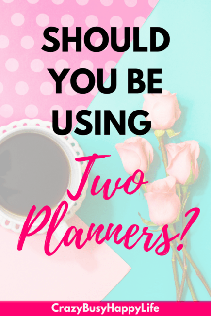 Should you be using two daily planners? Is having one planner for personal life and one for business a good idea? Day planner, planning, journaling, bullet journal, Erin Condren, Happy Planner