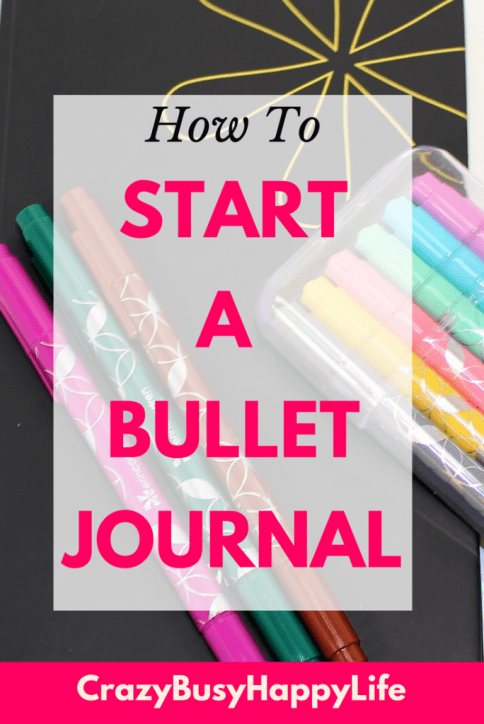 How to start a bullet Journal with the Erin Condren hardbound notebook. These great dot line books are the perfect size for bullet journaling! #bulletjournal #bullet #journal #erincondren #planner #markers #organize