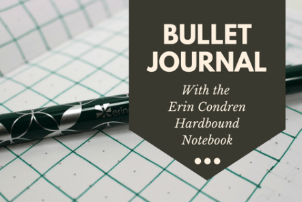 Erin Condren Hardbound Notebook bullet journal