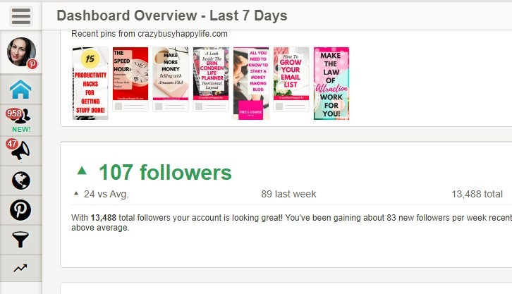 Pinterest followers with Tailwind