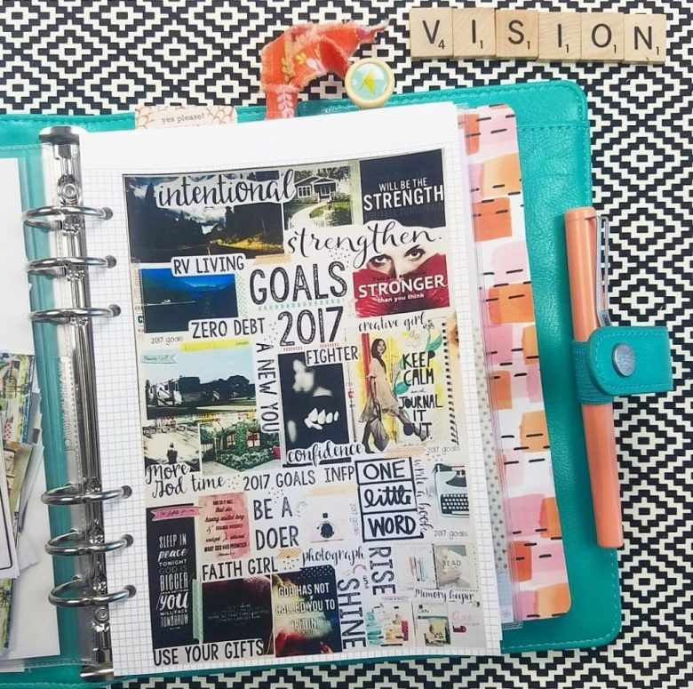 Use your vision board as a planner
