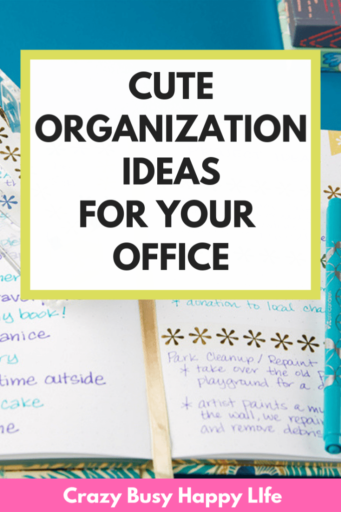 Cute Organization Ideas for Your Home Office. Whether you're on a budge or going all out, these organizing tips will help you love your work space. #organizing #organized #cuteorganizingideas #organizingtips #office