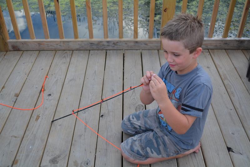Making A Fishing Pole.
