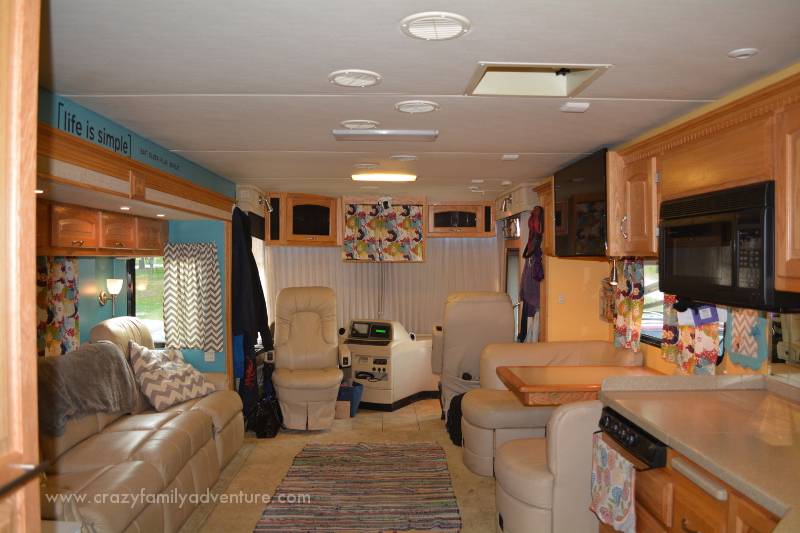 RV Remodel: How to fit 6 people and 2 large dogs in a Class A RV