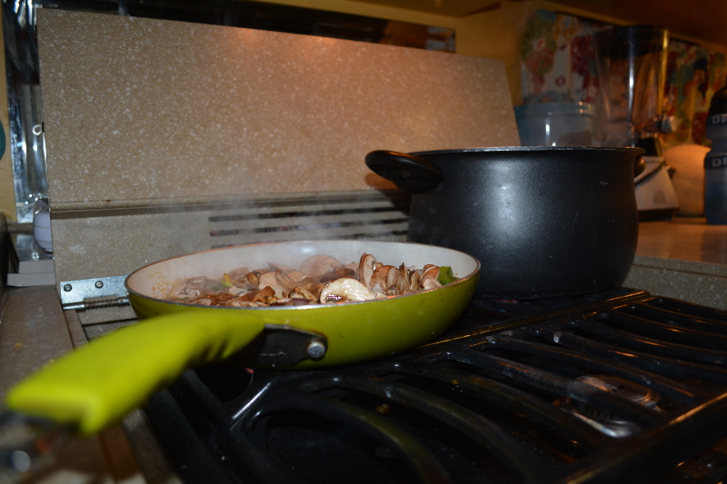 Dinner Cooking On The Stove!