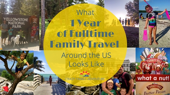 What One Year of Fulltime Family Travel Around the US Looks Like
