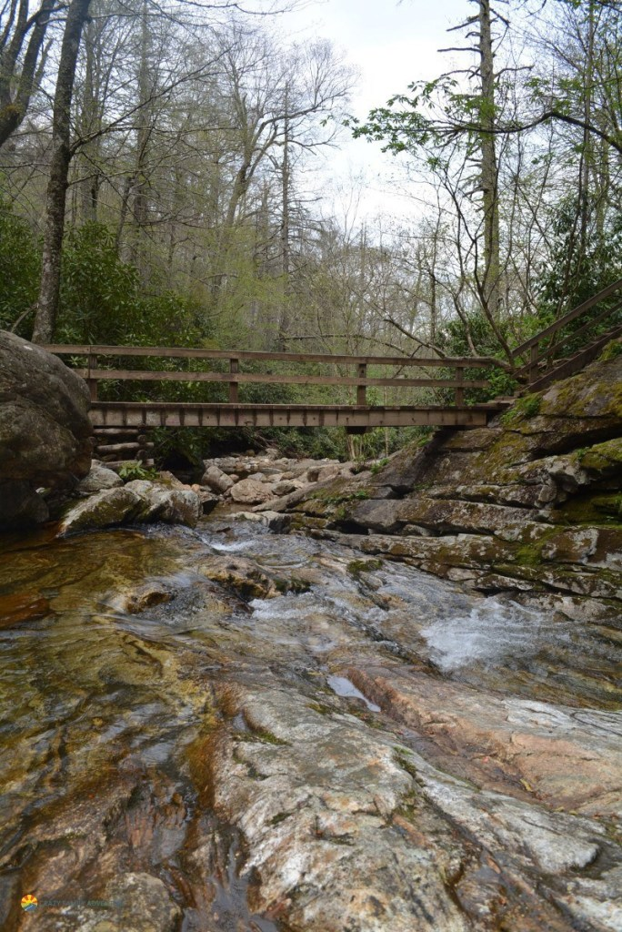 hiking with kids by asheville skinny dip falls