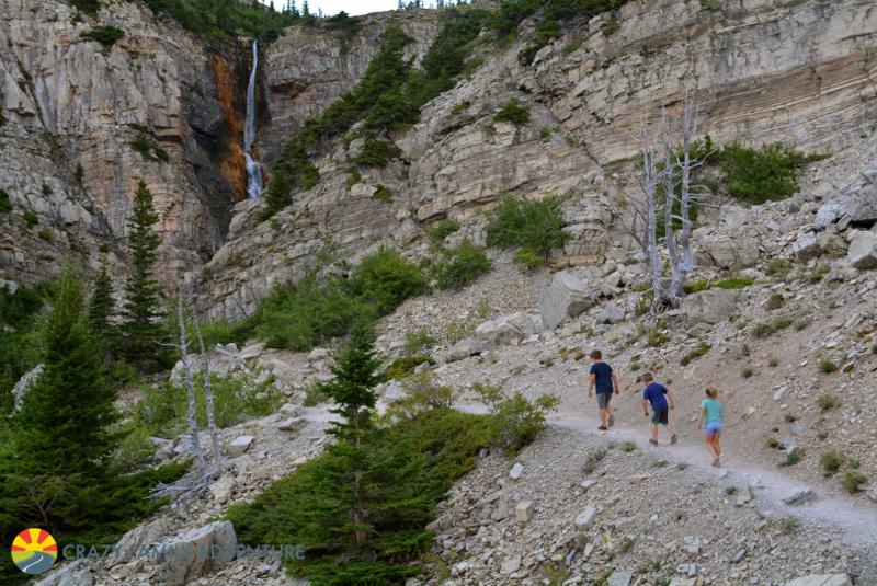 Making our way to Apikuni Falls in Glacier National Park