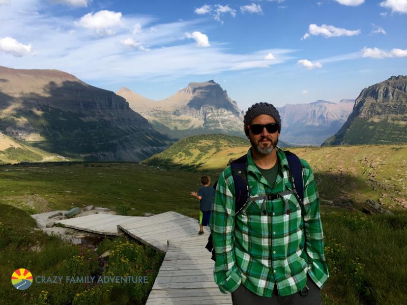 Boardwalk down the Hidden Lake trail in Glacier National Park