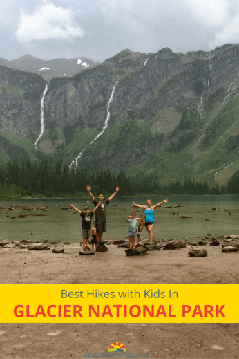 Glacier National Park - 8 hikes to go on when you are hiking with your kids in Glacier National Park!