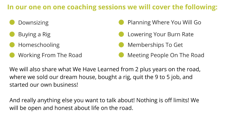 Full time family travel coaching session info