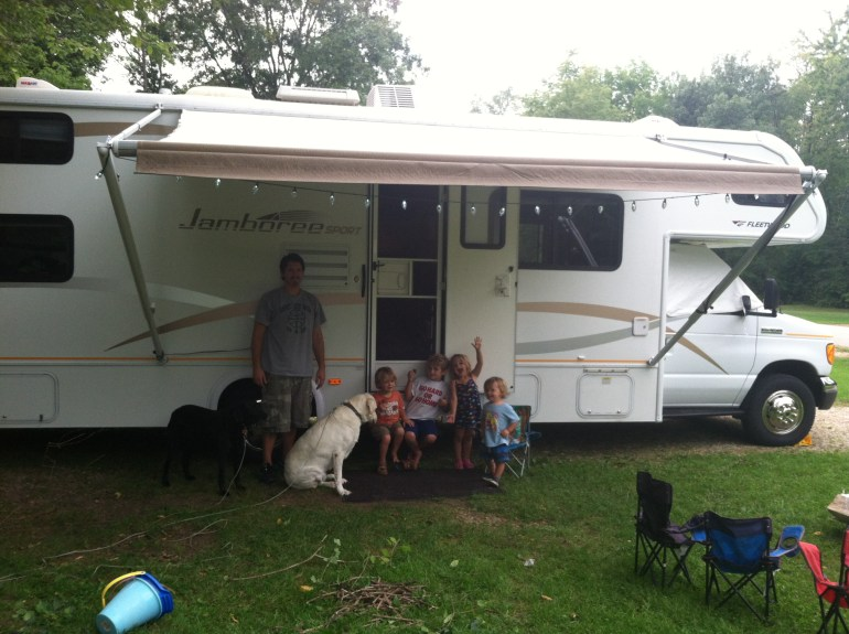 Our first step in becoming a full time RV family: the first RV trip!