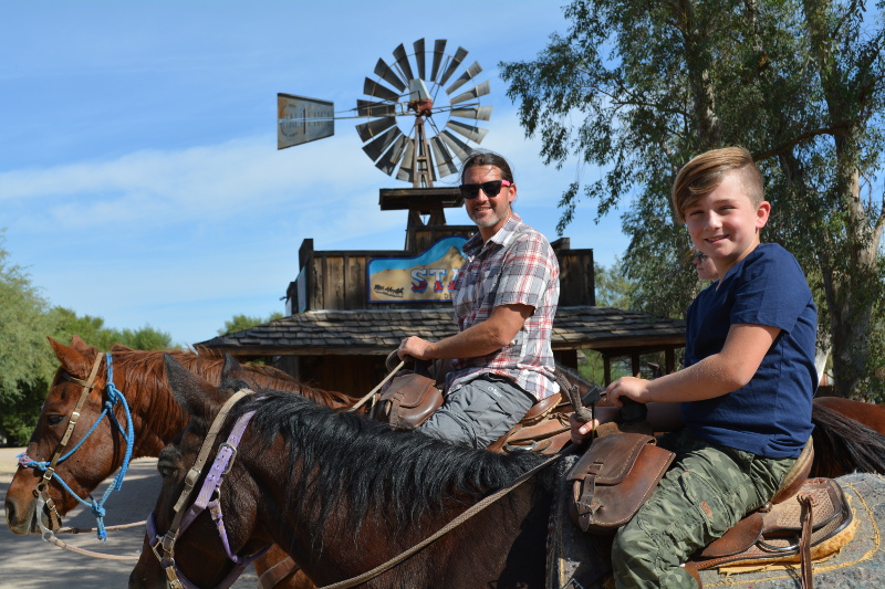For things to do in Tucson with kids White Stallion Ranch was at the top of our list.