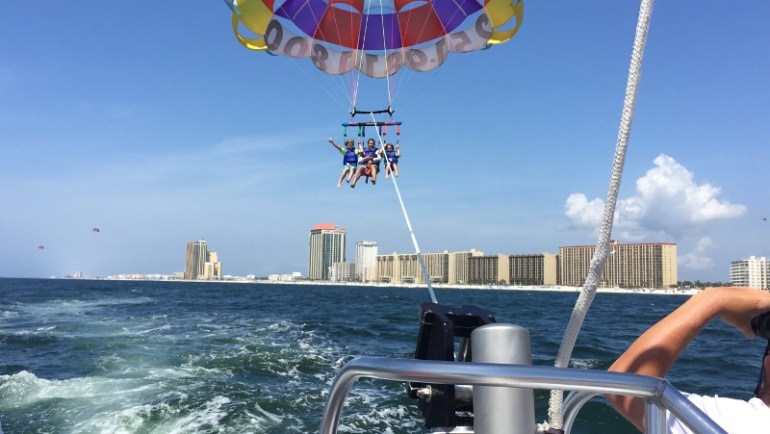 Parasailing along the coast of Gulf Shores Alabama!