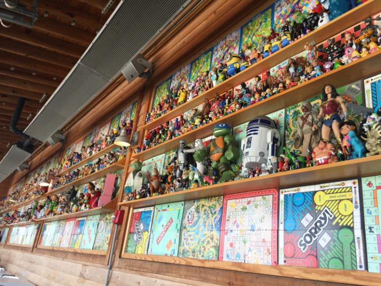 The Toy Wall at The Hangout in Gulf Shores Alabama.