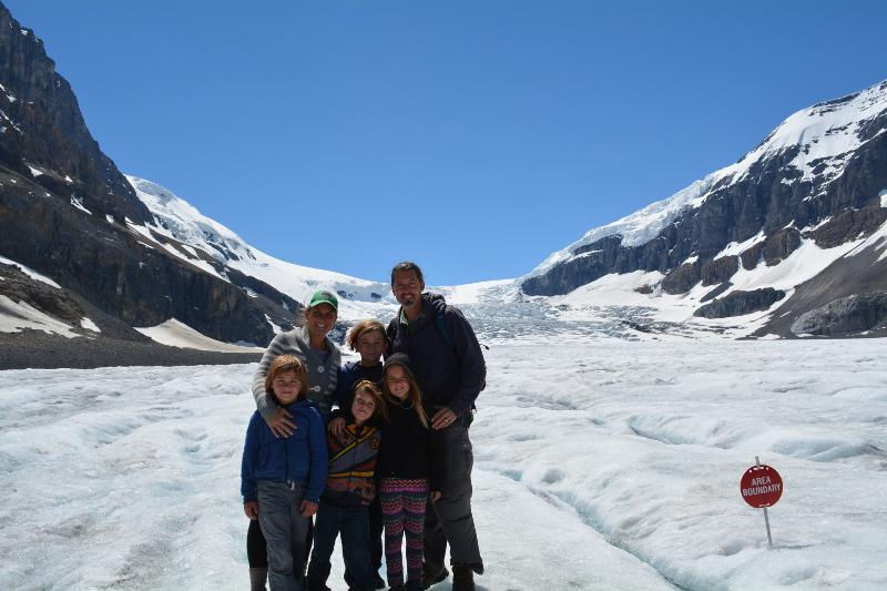 On the Athabasca Glacier in Japser National Park