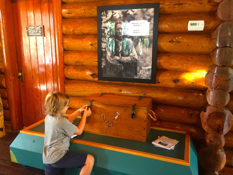 The Xplorer Program in Riding Mountain National Park consisted of a treasure hunt!