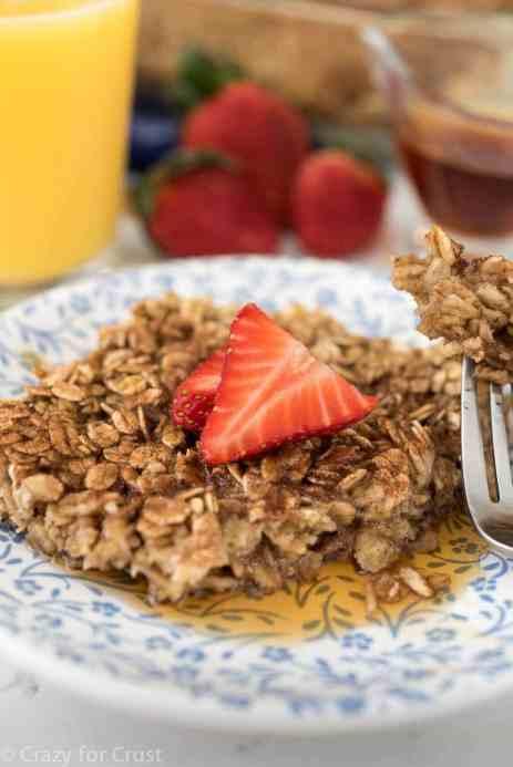 Easy Healthier Cinnamon Sugar Baked Oatmeal Recipe