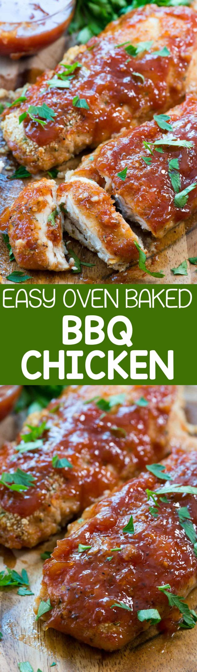 Easy Oven Baked BBQ Chicken - Crazy for Crust