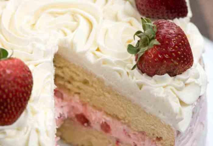 Strawberry Shortcake Layer Cake Crazy For Crust