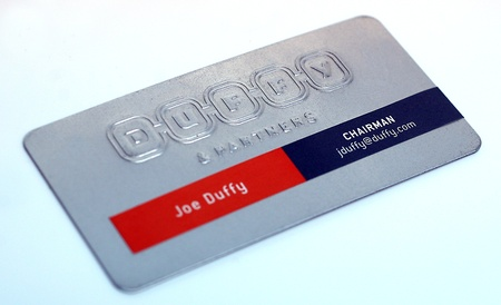 Joe Duffy business card design