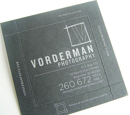Vorderman Photography business card design