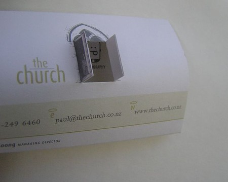 The Church business card design