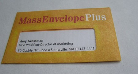 Mass Envelope Plus business card design