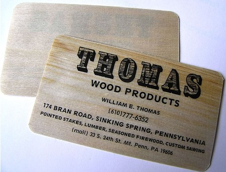 Thomas Wood Products business card design