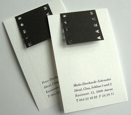 Kinos Aarau business card design