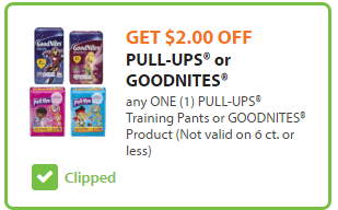 Pull-Ups $2 off Coupon