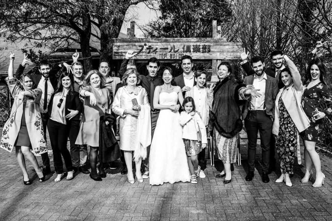 Foto de familia en la boda