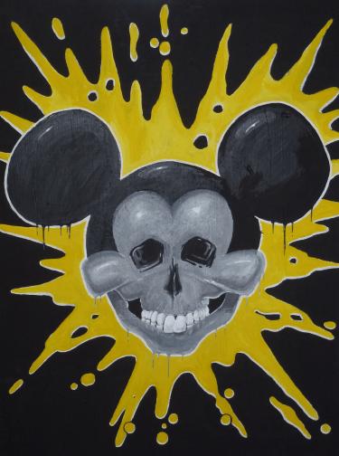 """""""aus die Maus"""" 80 x 60 Acryl auf Leinwand"""