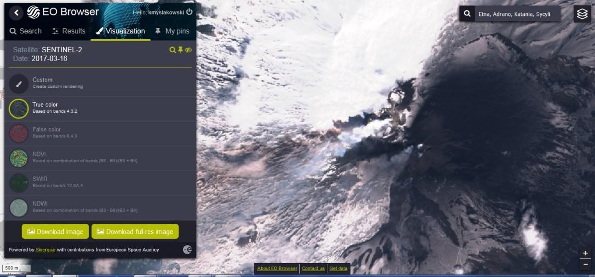2017-03-16 etna - spektrum widzialne2_ESA_Sentinel2_EO Cloud