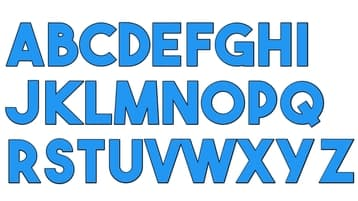 the bold font