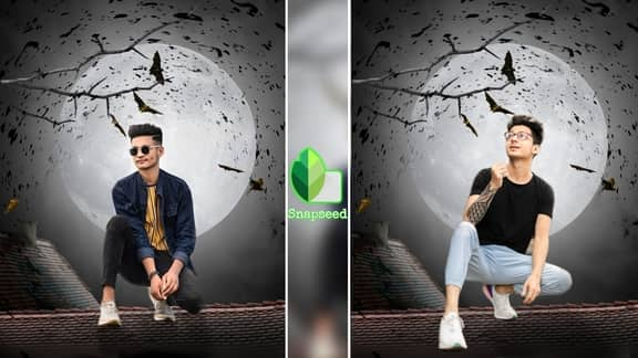 Snapseed Moon Photo Editing | Png & Background Download
