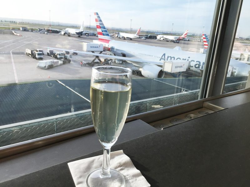 Airplanes and champagne are a good mix.