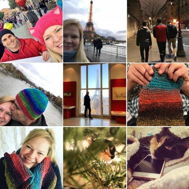 My 2017bestnine  yarn cats paris kissy stuff!