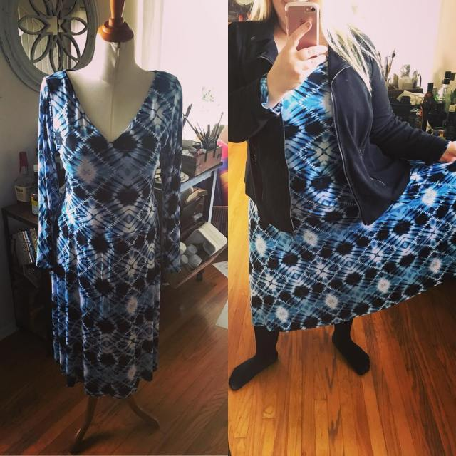 My first ever cashmerette pattern! This is a Turner Dresshellip