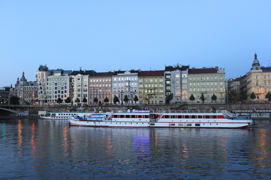 View of Prague from the Vltava River