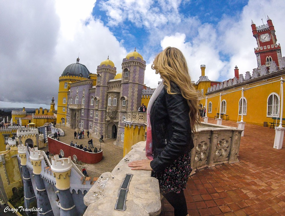 The colorful Pena Palace in Sintra
