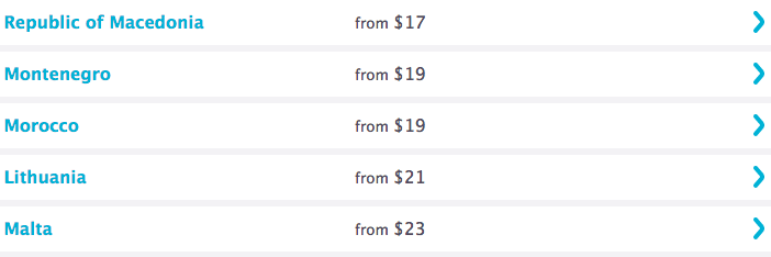 How to get to 6 continents from the USA for just $1632 using Skyscanner