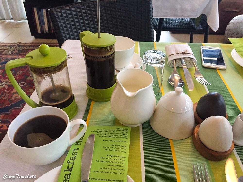 Derwent House breakfast