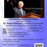 Dr. Paige Patterson – Evangelistic Rally at Mount Home Baptist Church!